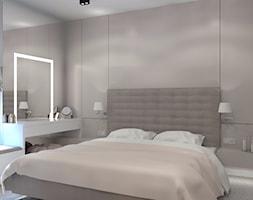 Wnętrze z mchem - Mała szara sypialnia małżeńska, styl nowoczesny - zdjęcie od LIVING BOX