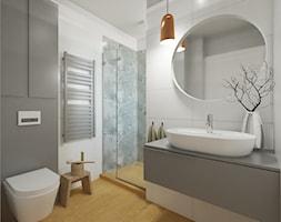 ŁAZIENKA - Średnia biała szara łazienka bez okna, styl skandynawski - zdjęcie od STUDIO KOLOROVA