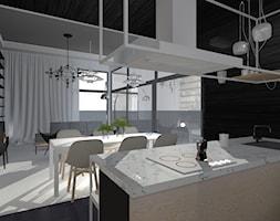 Urbanowicz 09 Dom Tychy - Duża otwarta jadalnia w salonie, styl industrialny - zdjęcie od Urbanowicz Studio Architektury