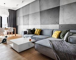 Apartament na Muranowie - Duży salon z jadalnią, styl nowoczesny - zdjęcie od oikoi
