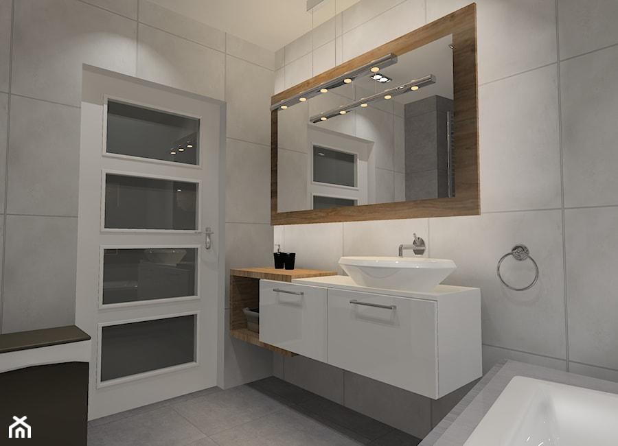 łazienka Beton Z Drewnem Mała łazienka W Bloku Bez Okna Styl