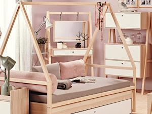 Średni pastelowy różowy pokój dziecka dla dziewczynki dla nastolatka - zdjęcie od VOX