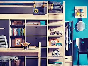 Mały szary niebieski pokój dziecka dla chłopca dla ucznia dla nastolatka - zdjęcie od VOX