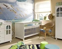 Średni żółty niebieski pokój dziecka dla chłopca dla niemowlaka - zdjęcie od VOX