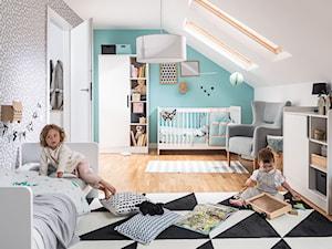 Konkurs Z VOX WOLNO POMARZYĆ - Duży biały szary niebieski pokój dziecka dla chłopca dla dziewczynki dla rodzeństwa dla niemowlaka dla malucha - zdjęcie od VOX