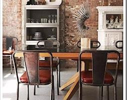 cegla/inspiracje pozyskane z Pinterest - Jadalnia, styl industrialny - zdjęcie od Maison Studio - Architektura Wnetrz. Żaklina Litwa