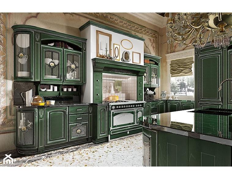 Produkt Kuchnia Gold Elite oferowany przez firmę Rad Pol Kuchnie  Zestawy me   -> Kuchnia Drewniana Elite Krem Patyna