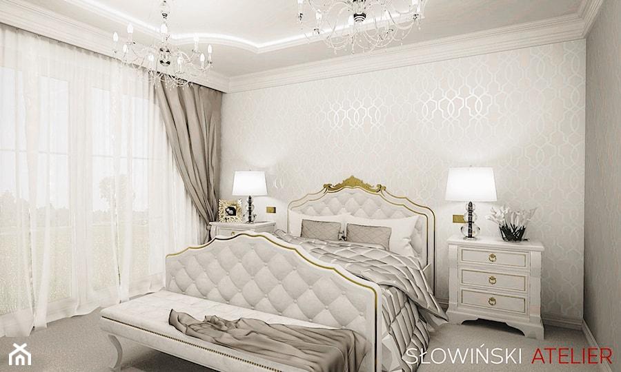 Stylowa Sypialnia średnia Biała Sypialnia Małżeńska Styl