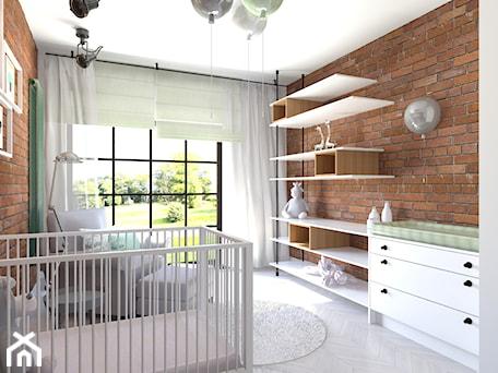 87 m2 - Średni brązowy pokój dziecka dla chłopca dla dziewczynki dla niemowlaka, styl industrialny - zdjęcie od ADV Design