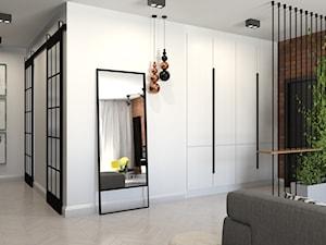 87 m2 - Średni biały hol / przedpokój, styl industrialny - zdjęcie od ADV Design