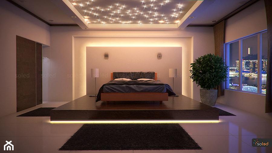Ciepła Sypialnia Z Oświetleniem Led Zdjęcie Od Soled