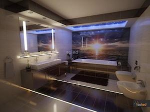 Romantyczna lazienka z energooszczędnym oświetleniem LED - zdjęcie od SOLED Projekty i dekoracje świetlne