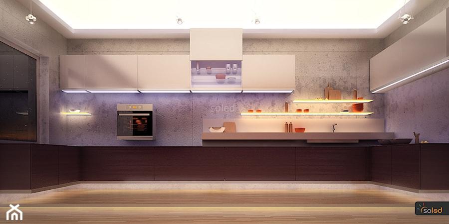 Kuchnia z oświetleniem LED  zdjęcie od SOLED Projekty i   -> Kuchnia Sufit Led