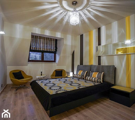 Zolta sypialnia