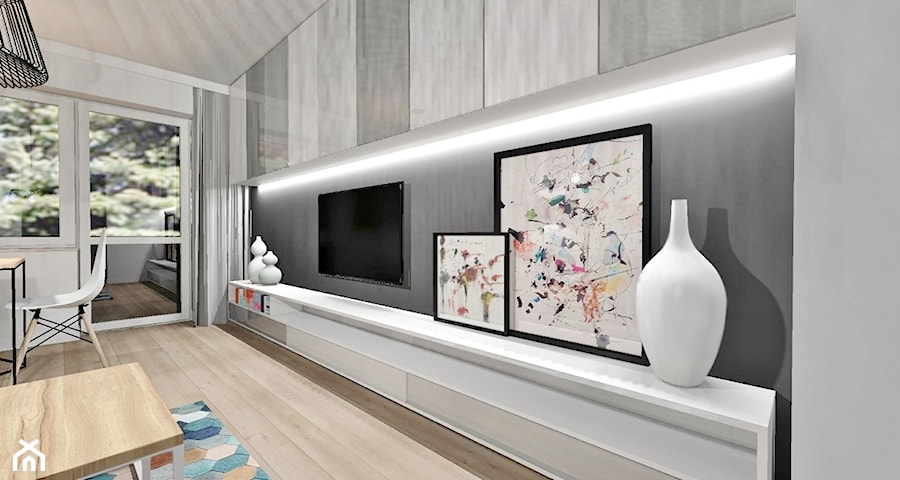 salon 18m2 osice 2014 salon styl skandynawski zdj cie od design by. Black Bedroom Furniture Sets. Home Design Ideas