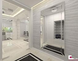 Projekt wnętrz domu - Mały biały hol / przedpokój, styl nowoczesny - zdjęcie od CUBE Interior Design