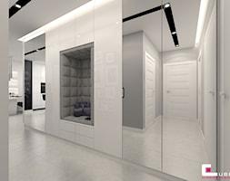 Mieszkanie 70 m2 w Warszawie - Średni szary hol / przedpokój, styl nowoczesny - zdjęcie od CUBE Interior Design