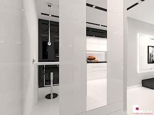 Mieszkanie w Mińsku Mazowieckim 50 m2 - Mały szary hol / przedpokój, styl nowoczesny - zdjęcie od CUBE Interior Design