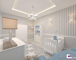 Mieszkanie 70 m2 w Warszawie - Średni szary pokój dziecka dla chłopca dla niemowlaka, styl klasyczny - zdjęcie od CUBE Interior Design