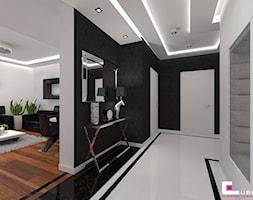 Apartament w Warszawie - Średni biały hol / przedpokój, styl nowoczesny - zdjęcie od CUBE Interior Design