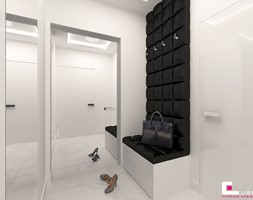 Dom w Elblągu - Mały biały hol / przedpokój, styl glamour - zdjęcie od CUBE Interior Design - Homebook