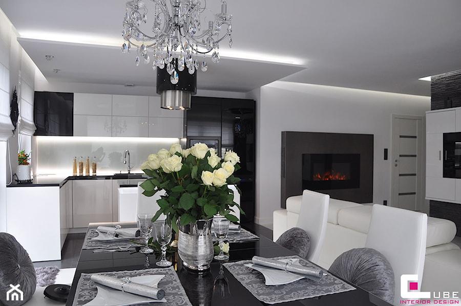 Mieszkanie bia o ka warszawa kuchnia styl nowoczesny zdj cie od cube interior design for Cube interiors