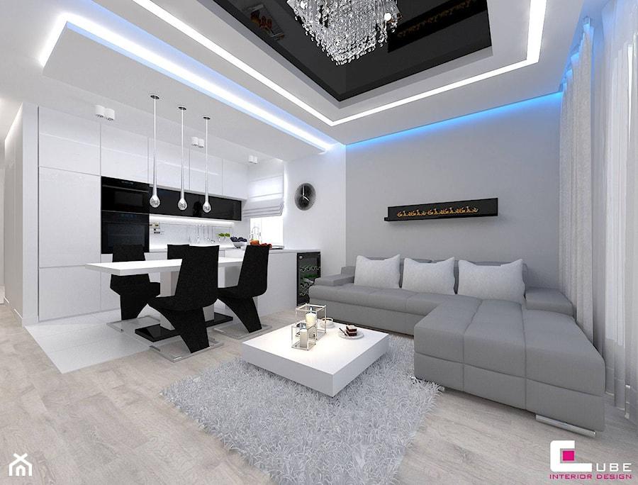 Mieszkanie W Minsku Mazowieckim 70 M2 Maly Szary Salon Z Kuchnia Z