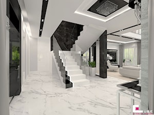 Projekt wnętrz domu w Wołominie - Schody, styl glamour - zdjęcie od CUBE Interior Design