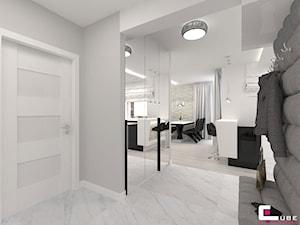Projekt mieszkania w Siedlcach - Średni szary hol / przedpokój, styl nowoczesny - zdjęcie od CUBE Interior Design