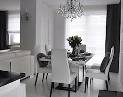 Mieszkanie Białołęka, Warszawa - Średnia otwarta biała jadalnia, styl glamour - zdjęcie od CUBE Interior Design