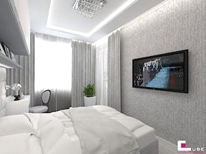 Mieszkanie 70 m2 w Warszawie - Średnia biała sypialnia dla gości, styl nowoczesny - zdjęcie od CUBE Interior Design