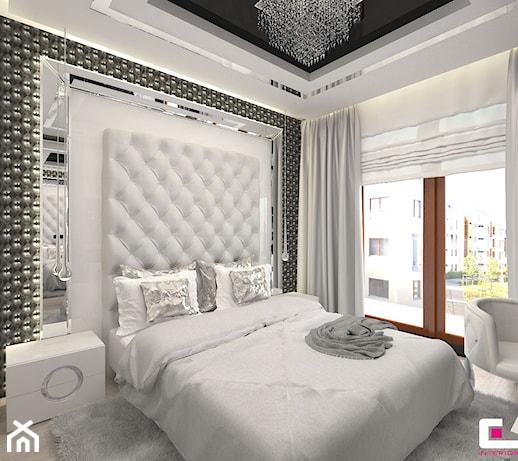 D Interiors Mała Sypialnia: Średnia Biała Szara Sypialnia