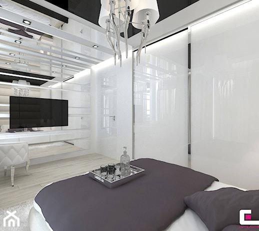 D Interiors Mała Sypialnia: Średnia Biała Sypialnia Małżeńska, Styl