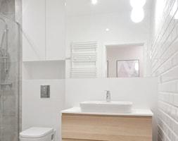 Wnętrza Krzekowo - Średnia szara łazienka w bloku w domu jednorodzinnym bez okna - zdjęcie od GÓRSKI CHMIELEWSKA ARCHITEKCI