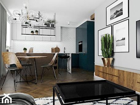 Aranżacje wnętrz - Jadalnia: Mieszkanie - Gdańsk Nowa Morena - Średnia biała jadalnia w kuchni w salonie, styl nowojorski - Autors.KA. Przeglądaj, dodawaj i zapisuj najlepsze zdjęcia, pomysły i inspiracje designerskie. W bazie mamy już prawie milion fotografii!