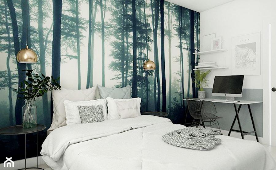 Mieszkanie - Gdańsk Oliwa - Średnia biała kolorowa sypialnia małżeńska, styl skandynawski - zdjęcie od Autors.KA