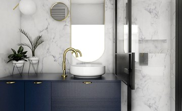 5 fantastycznych projektów łazienek w stylu eklektycznym. Zainspiruj się!