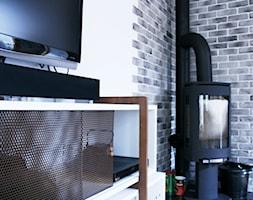 Mieszkanie - Gdynia Kack - Mały biały salon, styl skandynawski - zdjęcie od Autors.KA