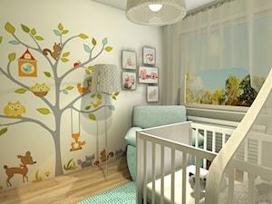 Projekt pokoju Maleńkiego Dziecka - Średni beżowy pokój dziecka dla chłopca dla dziewczynki dla niemowlaka dla malucha - zdjęcie od Studio Och Izabela Sirek