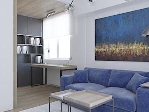 Minimalistyczne mieszkanie z akcentem kolorystycznym - Biuro, styl minimalistyczny - zdjęcie od LEW ARCHITEKCI