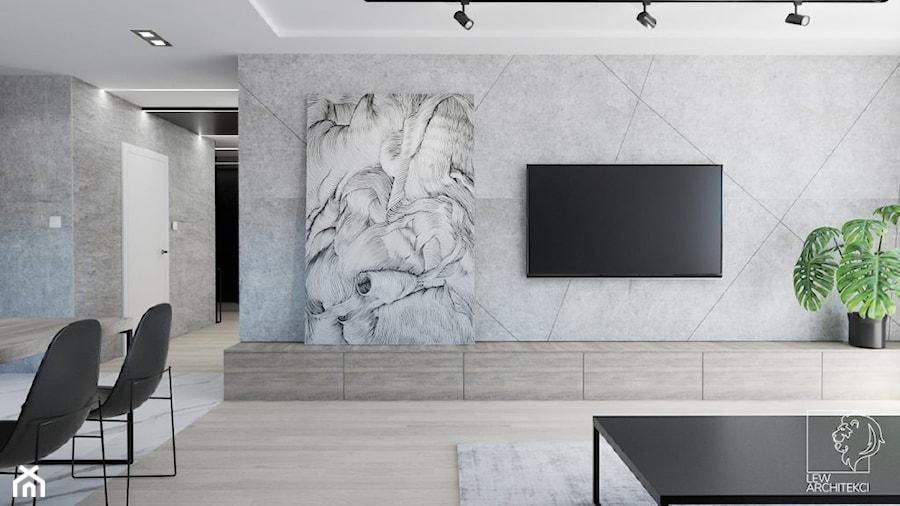 Luksusowe mieszkanie na wynajem 100m2 - Salon, styl nowoczesny - zdjęcie od LEW ARCHITEKCI