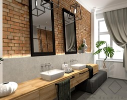 projekt łazienki w kamienicy - Duża biała łazienka w domu jednorodzinnym jako salon kąpielowy z oknem - zdjęcie od Decoria