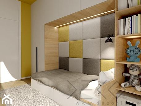 Pokój dziecięcy - Mały żółty pokój dziecka dla chłopca dla dziewczynki dla malucha - zdjęcie od Decoria