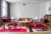 fioletowe fotele