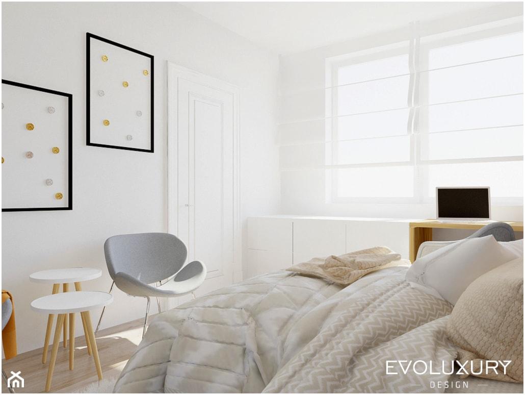 EVOLUXURY - BROADWAY - Średnia biała sypialnia małżeńska, styl skandynawski - zdjęcie od EVOLUXURY DESIGN ARKADIUSZ JASKOLSKI - Homebook