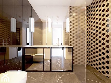 Aranżacje wnętrz - Łazienka: EVOLUXURY - PENTHOUSE 3 - Średnia czarna szara łazienka w bloku w domu jednorodzinnym z oknem, styl glamour - EVOLUXURY DESIGN ARKADIUSZ JASKOLSKI. Przeglądaj, dodawaj i zapisuj najlepsze zdjęcia, pomysły i inspiracje designerskie. W bazie mamy już prawie milion fotografii!