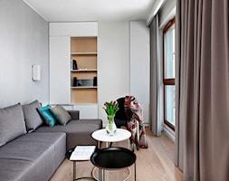 Apartament /Quattro Towers/ Gdańsk Wrzeszcz/ - Mały szary pokój dziecka dla chłopca dla nastolatka, styl nowoczesny - zdjęcie od AJOT pracownia projektowa