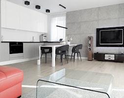 Salon z aneksem kuchennym - zdjęcie od AJOT pracownia projektowa