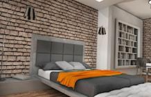 Sypialnia styl Industrialny - zdjęcie od K-STUDIO Architekt Wnętrz Katarzyna Teperek