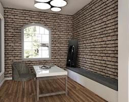 """""""Wielkomiejski loft"""" - Średnie biuro domowe w pokoju, styl industrialny - zdjęcie od K-STUDIO Architekt Wnętrz Katarzyna Miłkowska"""
